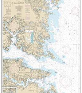 12235 - Chesapeake Bay Rappahannock River Entrance; Piankatank and Great Wicomico Rivers