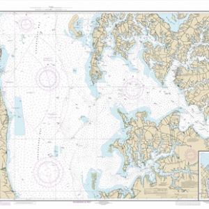 12266 - Chesapeake Bay Choptank River and Herring Bay; Cambridge
