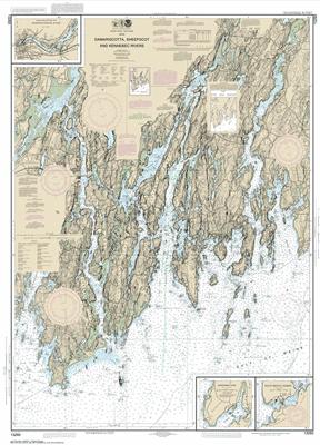 13293 - Damariscotta, Sheepscot and Kennebec Rivers; South Bristol Harbor; Christmas Cove