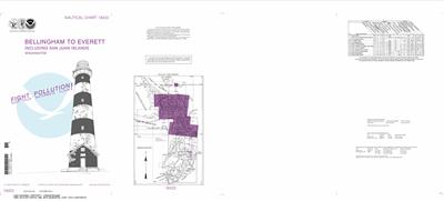 18423 - 3 Charts - Bellingham to Everett Including San Juan Islands; Blaine