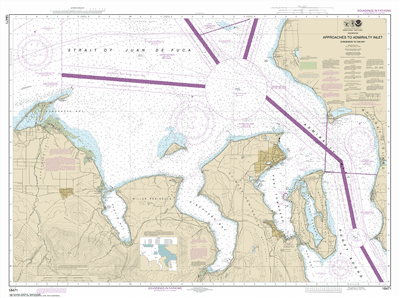 18471 - Approaches to Admiralty Inlet Dungeness to Oak Bay