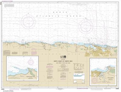 25668 - North Coast of Puerto Rico Punta Penon to Punta Vacia Talega; Puerto Arecibo; Puerto Palmas Altas