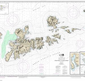 16471 - Atka Pass to Adak Strait; Three Arm Bay, Adak Island; Kanaga Bay, Kanaga Island; Chapel Roads and Chapel Cove, Adak Island