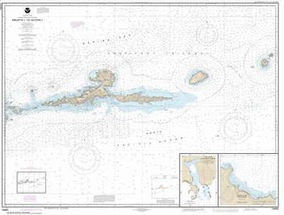 16480 - Amkta Island to Igitkin Island; Finch Cove Seguam Island; Sviechnikof Harbor, Amilia Island