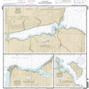 16599 - Bays and Anchorages, Kodiak Island Karluk Anchorage; Larsen Bay; Uyak Anchorage