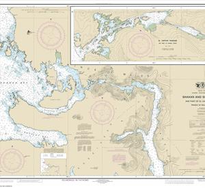 17387 - Shakan and Shipley  Bays and Part of El Capitan Passage; El Capitan Pasage, Dry Pass to Shakan Strait