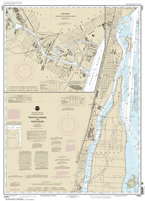 14854 - Trenton Channel and River Rouge; River Rouge