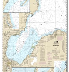 14863 - Saginaw Bay; Port Austin Harbor; Caseville Harbor; Entrance to Au Sable River; Sebewaing Harbor; Tawas Harbor