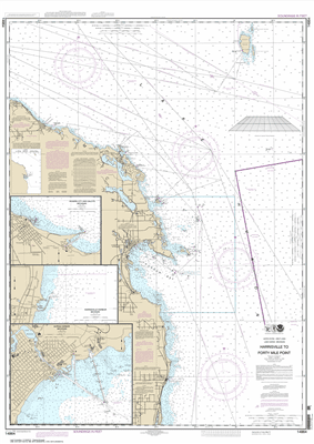14864 - Harrisville to Forty Mile Point; Harrisville Harbor; Alpena; Rogers City and Calcite