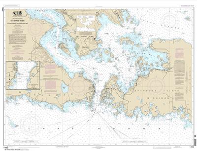 14882 - St. Mars River - Detour Passage to Munuscong Lake; Detour Passage