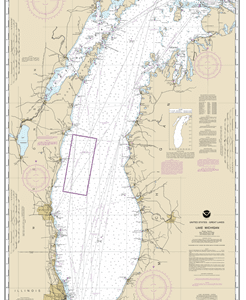 14901 - Lake Michigan (Mercator Projection)