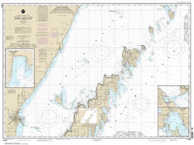 14909 - Upper Green Bay - Jackson Harbor and Detroit Harbor; Detroit Harbor; Jackson Harbor; Baileys Harbor
