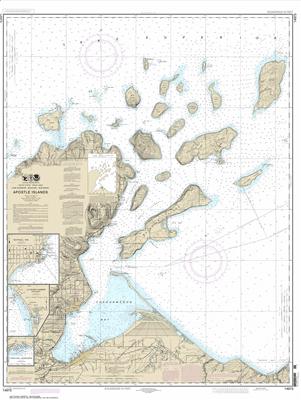 14973 - Apostle Islands, including Chequamegan Bay; Bayfield Harbor; Pikes Bay Harbor; La Pointe Harbor